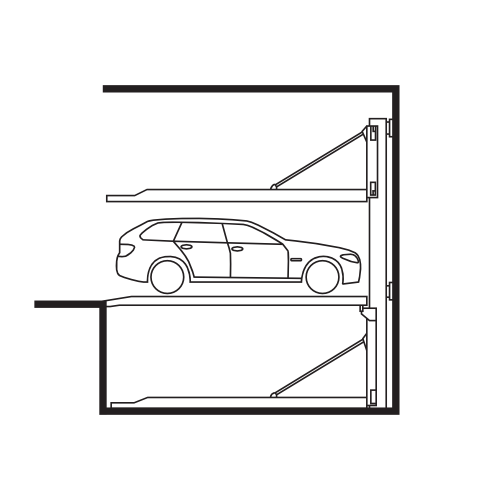 Poloautomatické parkovací systémy